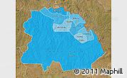 Political Shades Map of Copperbelt, satellite outside