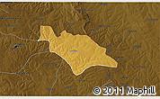 Physical 3D Map of Mufulira, darken