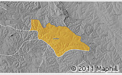 Physical 3D Map of Mufulira, desaturated