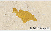 Physical 3D Map of Mufulira, lighten
