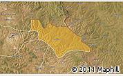 Physical 3D Map of Mufulira, satellite outside