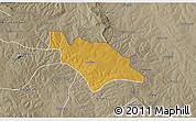 Physical 3D Map of Mufulira, semi-desaturated