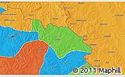 Political 3D Map of Mufulira