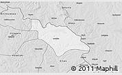 Silver Style 3D Map of Mufulira