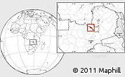 Blank Location Map of Mufulira