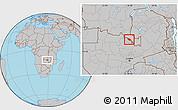 Gray Location Map of Mufulira