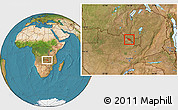 Satellite Location Map of Mufulira