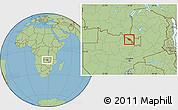 Savanna Style Location Map of Mufulira