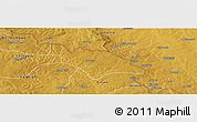 Physical Panoramic Map of Mufulira