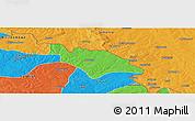 Political Panoramic Map of Mufulira