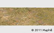 Satellite Panoramic Map of Mufulira