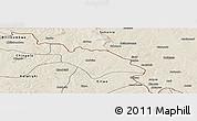 Shaded Relief Panoramic Map of Mufulira