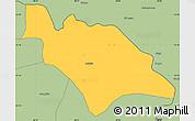 Savanna Style Simple Map of Mufulira