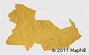 Physical 3D Map of Ndola Rural, cropped outside