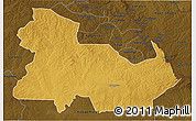 Physical 3D Map of Ndola Rural, darken