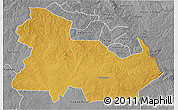 Physical 3D Map of Ndola Rural, desaturated