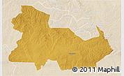 Physical 3D Map of Ndola Rural, lighten