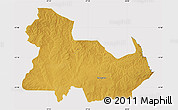 Physical Map of Ndola Rural, cropped outside