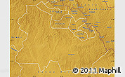Physical Map of Ndola Rural