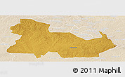 Physical Panoramic Map of Ndola Rural, lighten