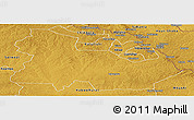 Physical Panoramic Map of Ndola Rural