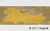 Physical Panoramic Map of Ndola Rural, satellite outside