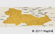 Physical Panoramic Map of Ndola Rural, shaded relief outside