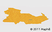 Political Panoramic Map of Ndola Rural, cropped outside