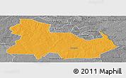 Political Panoramic Map of Ndola Rural, desaturated