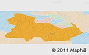 Political Panoramic Map of Ndola Rural, lighten