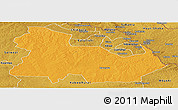 Political Panoramic Map of Ndola Rural, physical outside