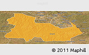 Political Panoramic Map of Ndola Rural, satellite outside