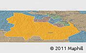 Political Panoramic Map of Ndola Rural, semi-desaturated