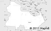 Silver Style Simple Map of Ndola Rural