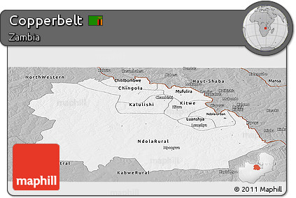 Gray Panoramic Map of Copperbelt