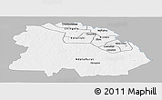 Gray Panoramic Map of Copperbelt, single color outside