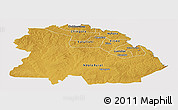 Physical Panoramic Map of Copperbelt, cropped outside