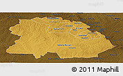 Physical Panoramic Map of Copperbelt, darken