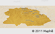 Physical Panoramic Map of Copperbelt, lighten