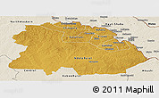 Physical Panoramic Map of Copperbelt, shaded relief outside