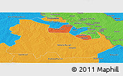 Political Panoramic Map of Copperbelt