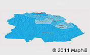Political Shades Panoramic Map of Copperbelt, cropped outside