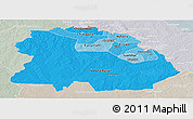 Political Shades Panoramic Map of Copperbelt, lighten, semi-desaturated