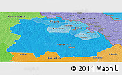Political Shades Panoramic Map of Copperbelt