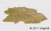 Satellite Panoramic Map of Copperbelt, cropped outside