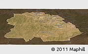 Satellite Panoramic Map of Copperbelt, darken