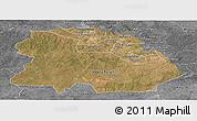 Satellite Panoramic Map of Copperbelt, desaturated