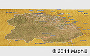 Satellite Panoramic Map of Copperbelt, physical outside