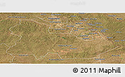 Satellite Panoramic Map of Copperbelt