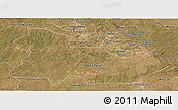 Satellite Panoramic Map of Copperbelt